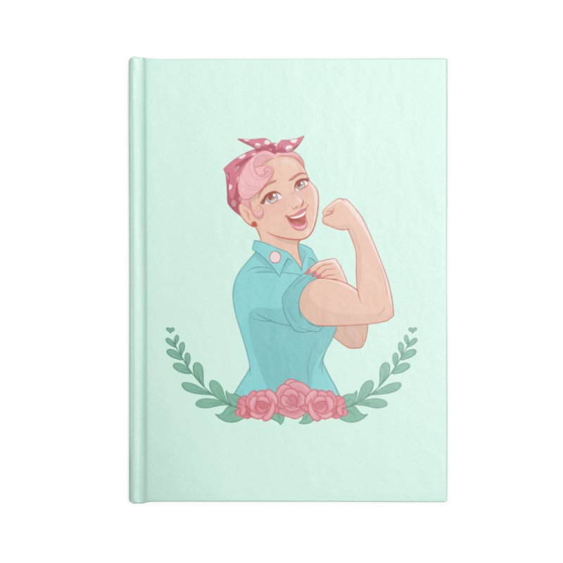 Pink Rosie Accessories Notebook by Saturn Twins