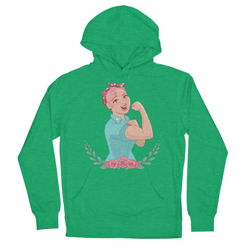 Pink Rosie Women's Pullover Hoody by satruntwins's Artist Shop