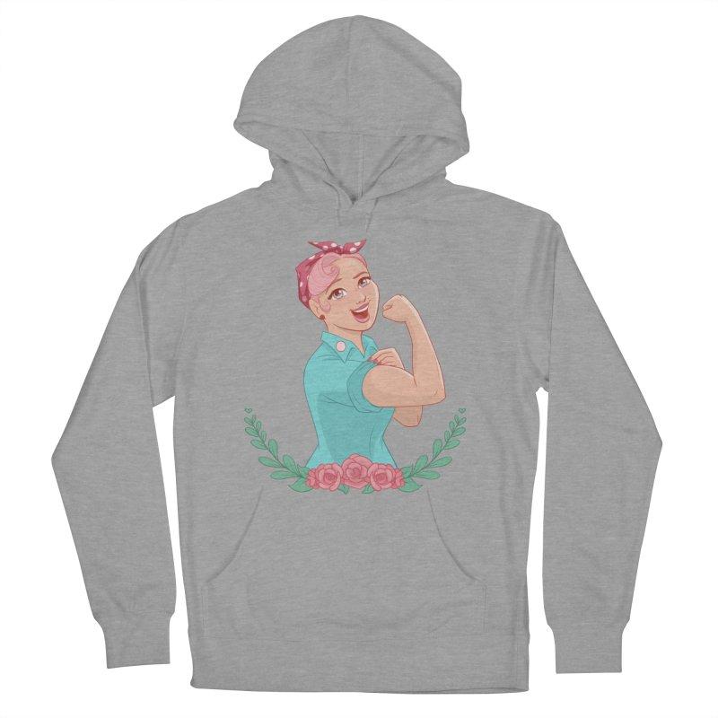 Pink Rosie Men's Pullover Hoody by satruntwins's Artist Shop