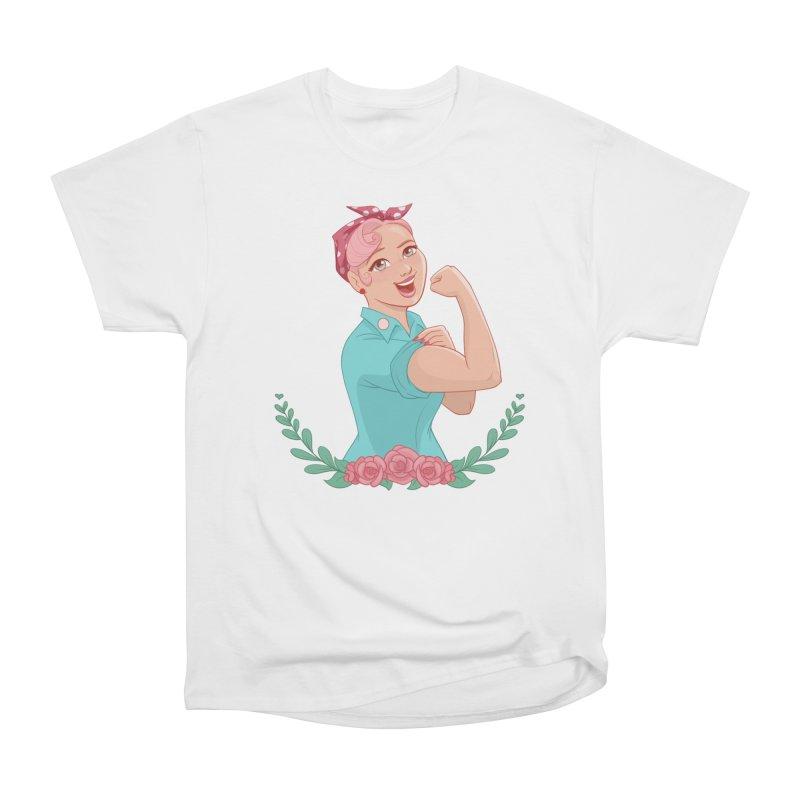 Pink Rosie Men's Heavyweight T-Shirt by satruntwins's Artist Shop