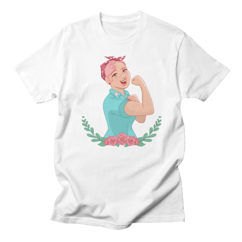 Pink Rosie Men's T-Shirt by satruntwins's Artist Shop