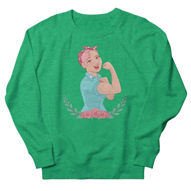 Pink Rosie Women's Sweatshirt by satruntwins's Artist Shop