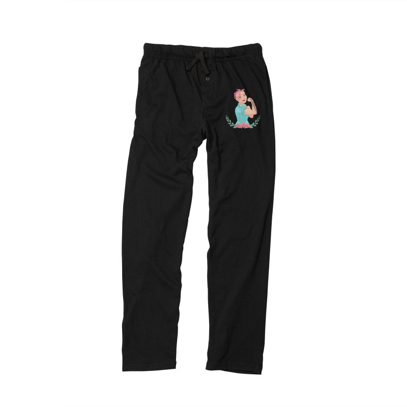 Pink Rosie Women's Lounge Pants by satruntwins's Artist Shop
