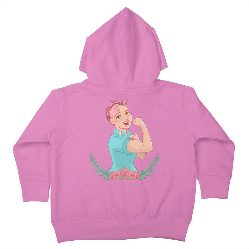 Pink Rosie Kids Toddler Zip-Up Hoody by satruntwins's Artist Shop