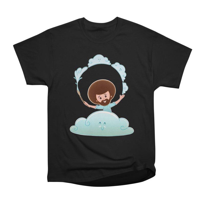Happy Clouds! Women's Heavyweight Unisex T-Shirt by satruntwins's Artist Shop