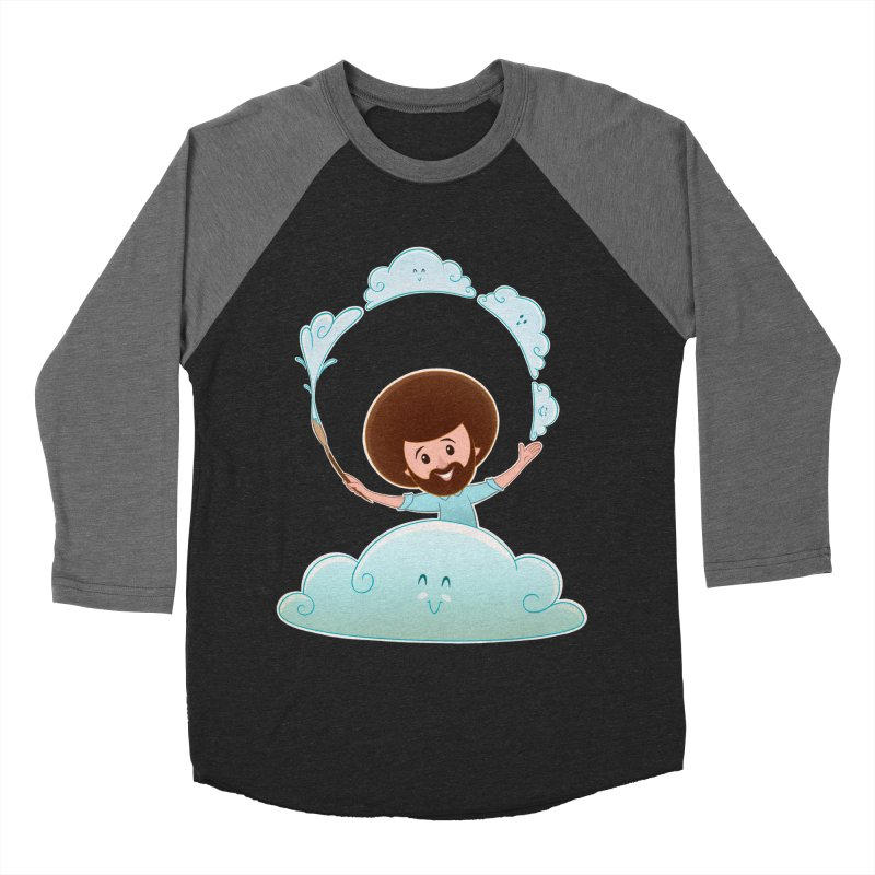 Happy Clouds! Men's Baseball Triblend T-Shirt by satruntwins's Artist Shop