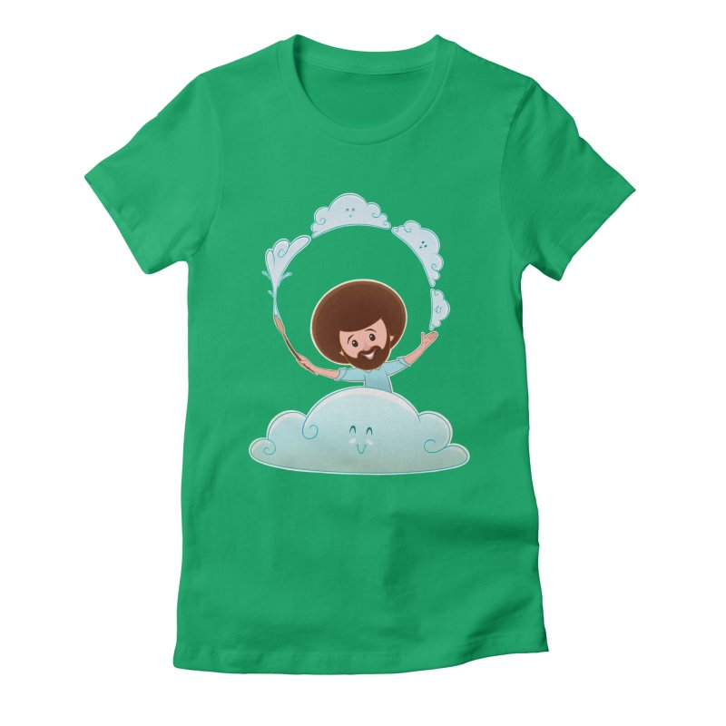 Happy Clouds! Women's Fitted T-Shirt by satruntwins's Artist Shop