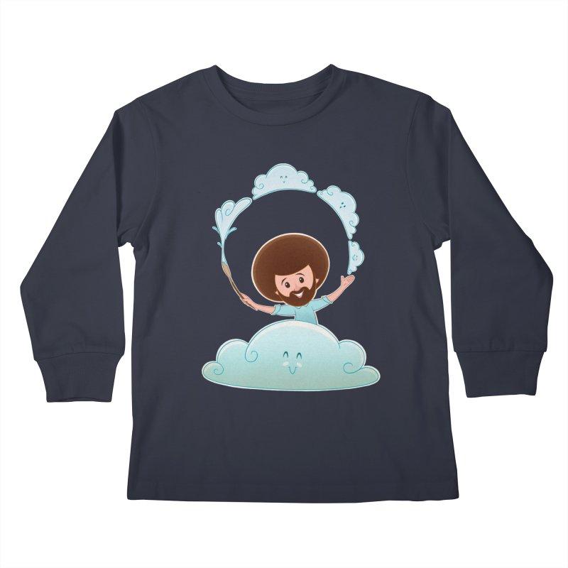 Happy Clouds! Kids Longsleeve T-Shirt by satruntwins's Artist Shop