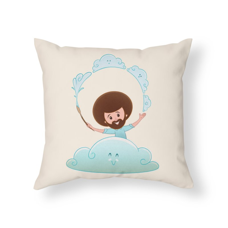 Happy Clouds! Home Throw Pillow by satruntwins's Artist Shop