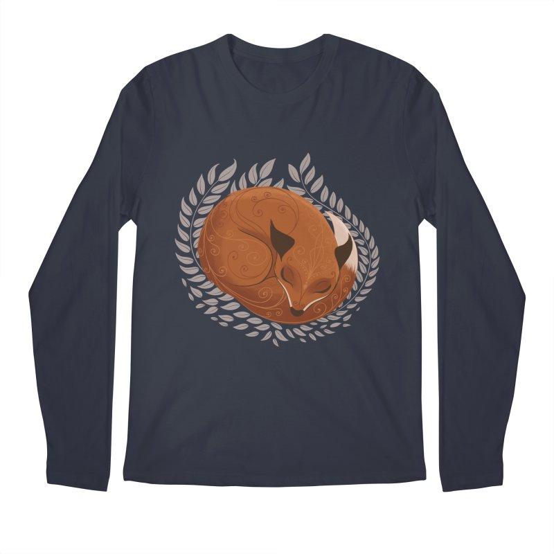 Sleeping Fox Men's Longsleeve T-Shirt by satruntwins's Artist Shop