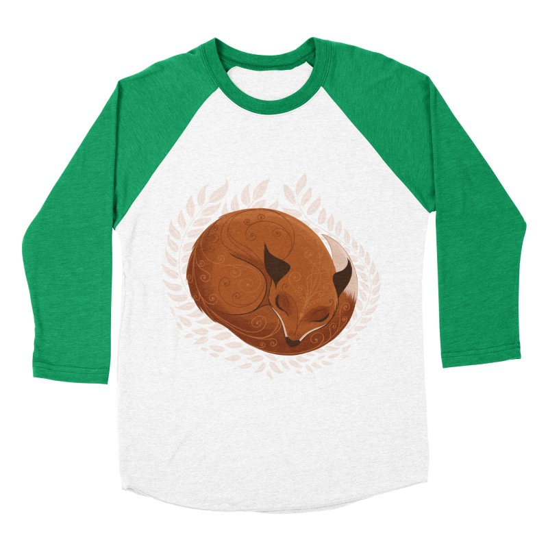 Sleeping Fox Men's Baseball Triblend T-Shirt by satruntwins's Artist Shop