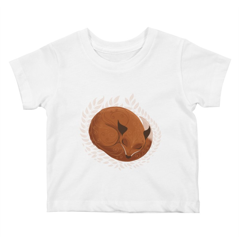 Sleeping Fox Kids Baby T-Shirt by satruntwins's Artist Shop