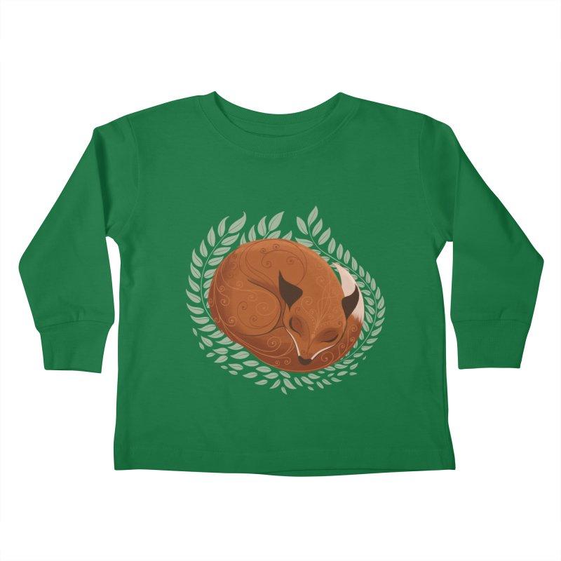 Sleeping Fox Kids Toddler Longsleeve T-Shirt by satruntwins's Artist Shop