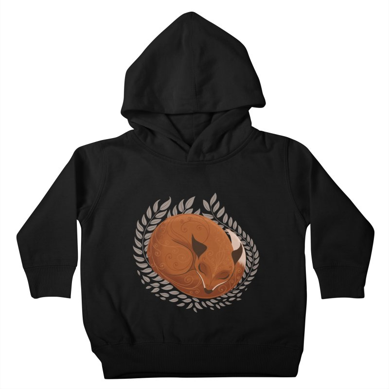 Sleeping Fox Kids Toddler Pullover Hoody by satruntwins's Artist Shop