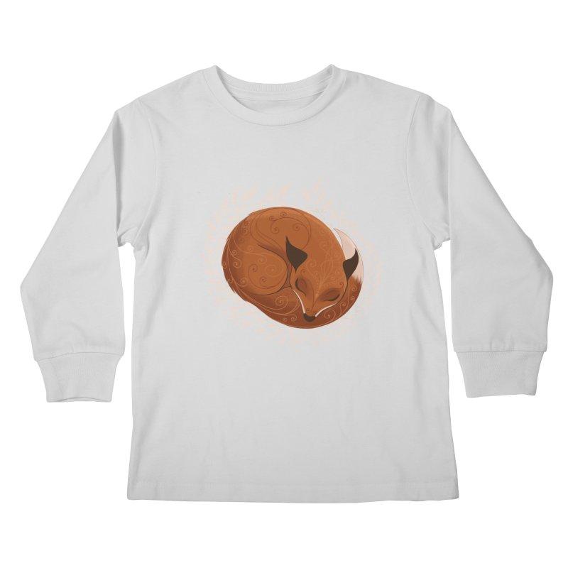 Sleeping Fox Kids Longsleeve T-Shirt by satruntwins's Artist Shop