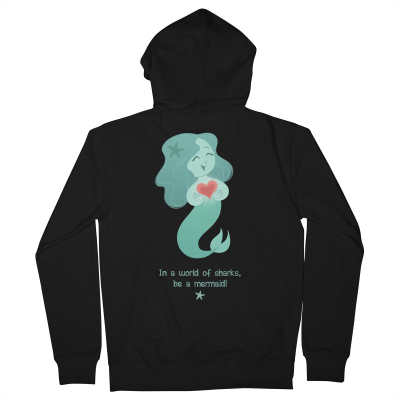 Be a mermaid! Men's Zip-Up Hoody by satruntwins's Artist Shop