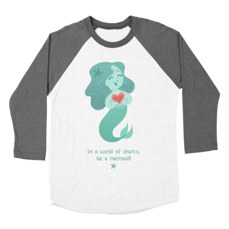 Be a mermaid! Men's Baseball Triblend T-Shirt by satruntwins's Artist Shop