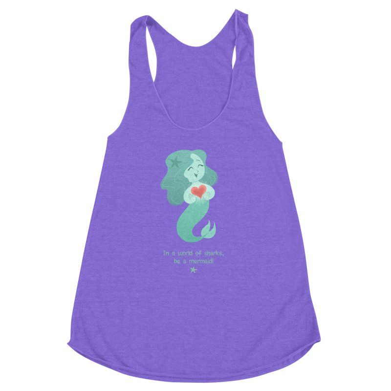 Be a mermaid! Women's Racerback Triblend Tank by satruntwins's Artist Shop