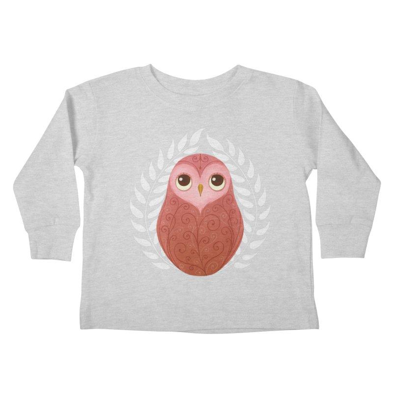 Pink Owl Kids Toddler Longsleeve T-Shirt by satruntwins's Artist Shop