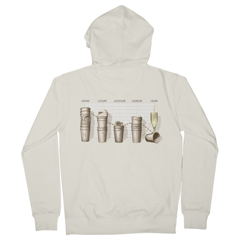 The Latest Office Stats are in … Men's Zip-Up Hoody by Satta van Daal
