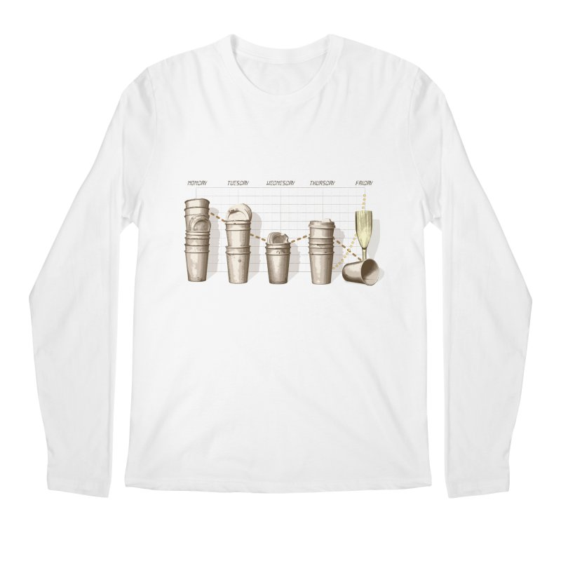 The Latest Office Stats are in … Men's Regular Longsleeve T-Shirt by Satta van Daal