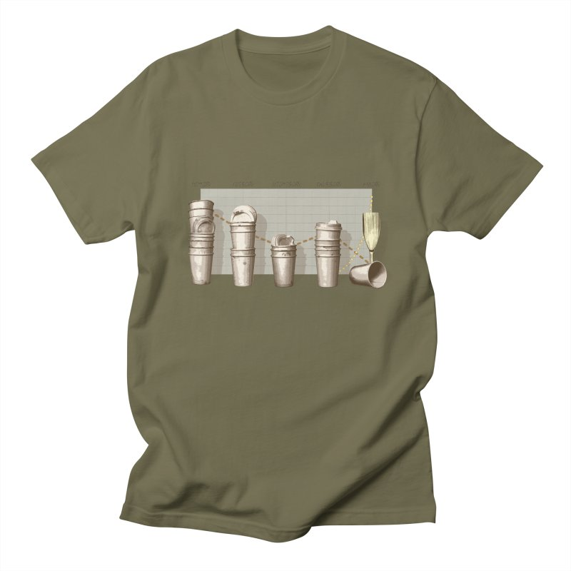 The Latest Office Stats are in … Men's Regular T-Shirt by Satta van Daal