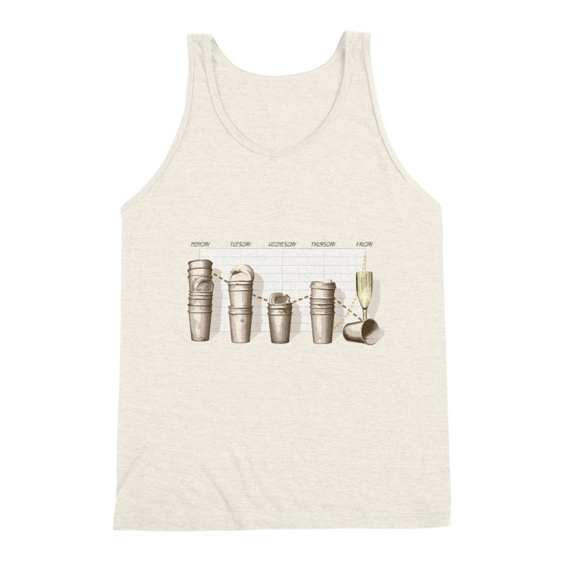 The Latest Office Stats are in … Men's Triblend Tank by Satta van Daal