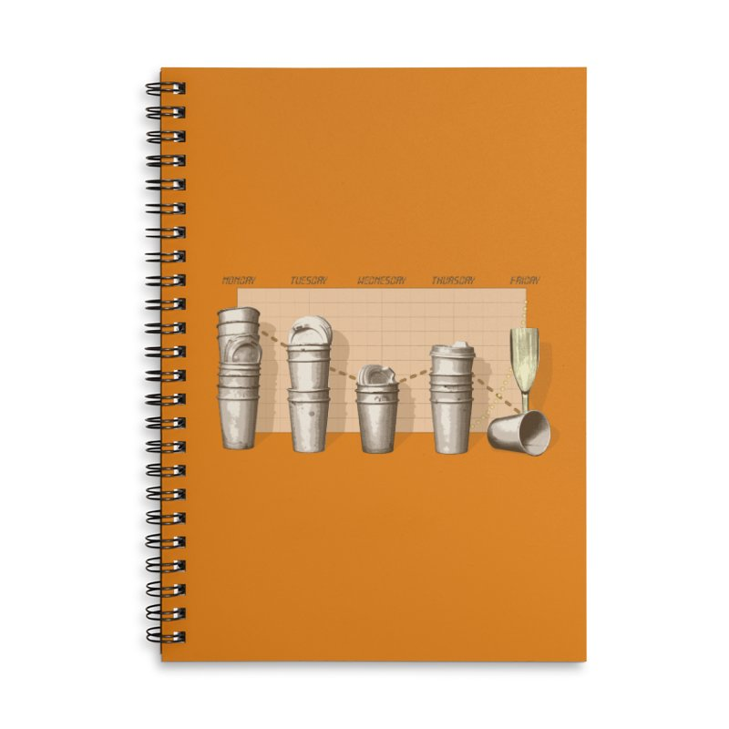 The Latest Office Stats are in … Accessories Lined Spiral Notebook by Satta van Daal