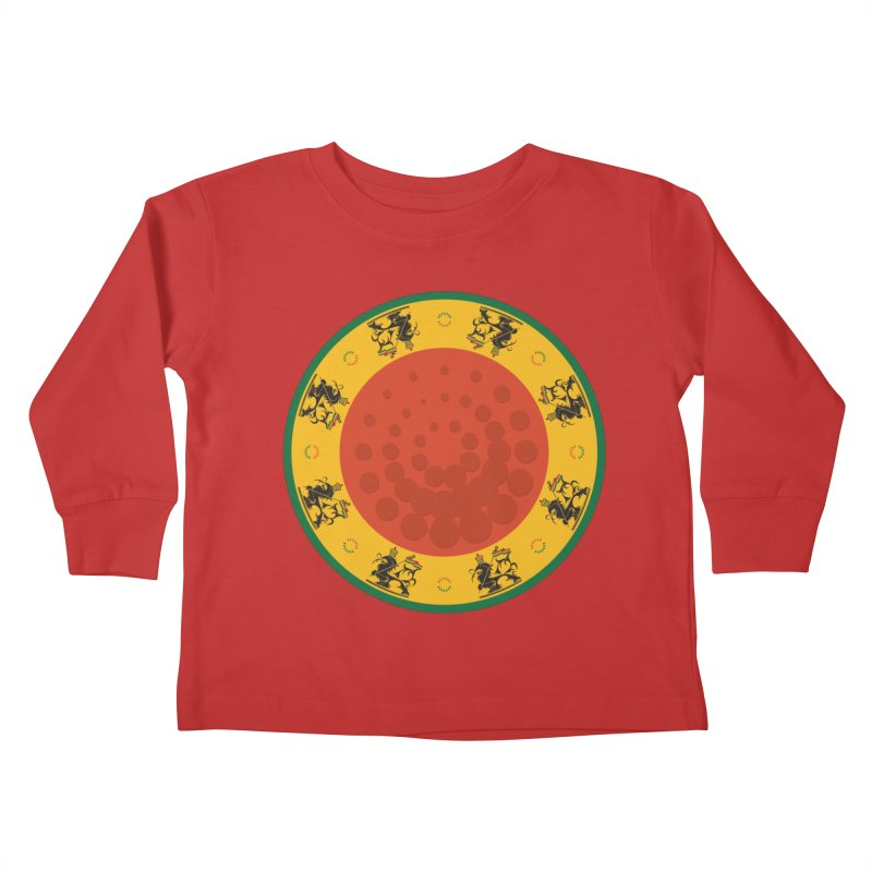 Lions Kids Toddler Longsleeve T-Shirt by Satta van Daal