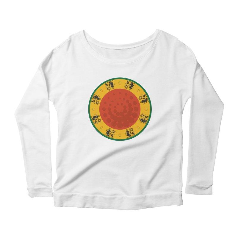 Lions Women's Scoop Neck Longsleeve T-Shirt by Satta van Daal