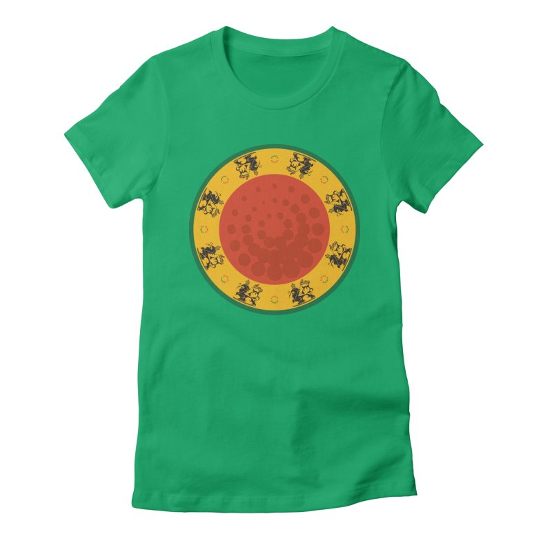 Lions Women's Fitted T-Shirt by Satta van Daal