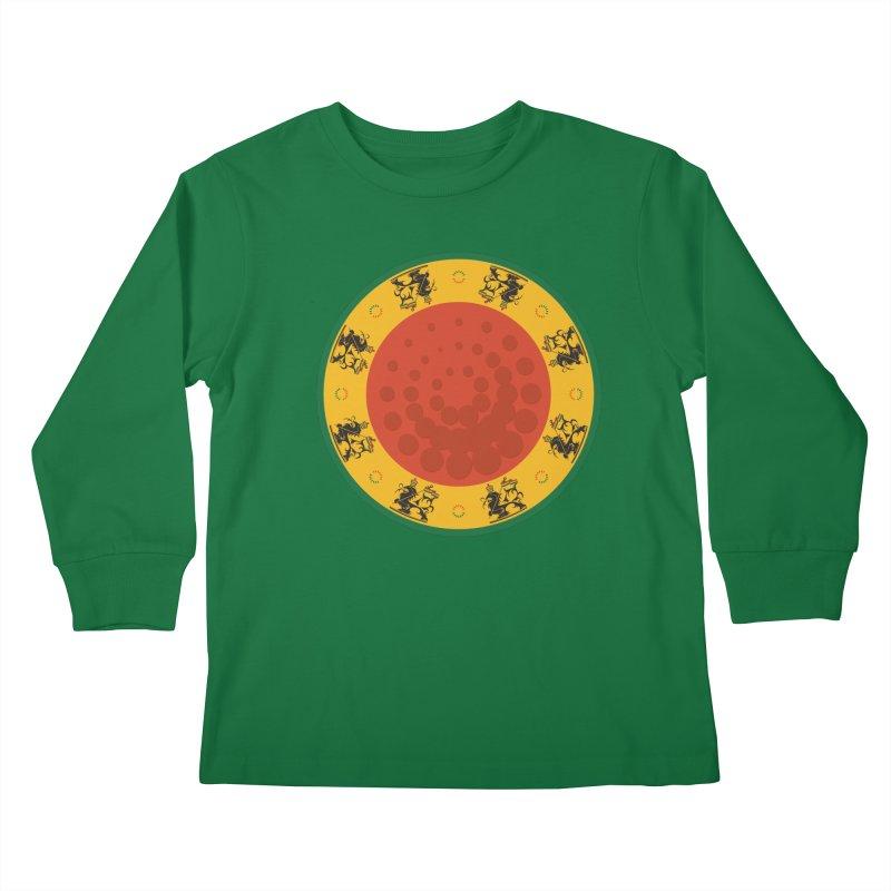Lions Kids Longsleeve T-Shirt by Satta van Daal