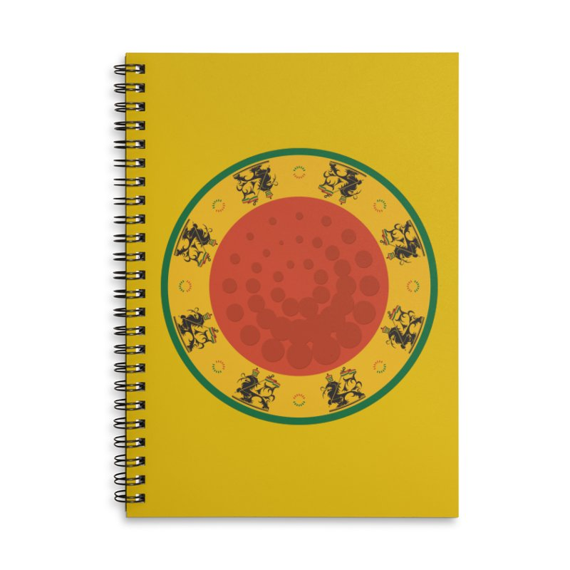 Lions Accessories Lined Spiral Notebook by Satta van Daal