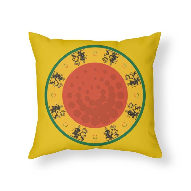 Lions Home Throw Pillow by Satta van Daal