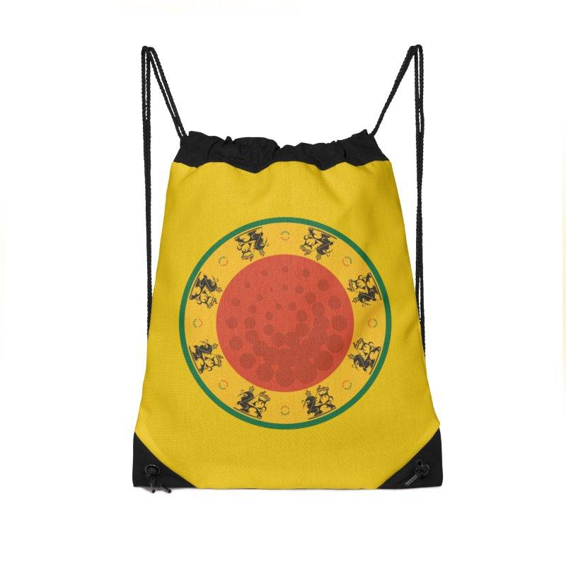 Lions Accessories Drawstring Bag Bag by Satta van Daal