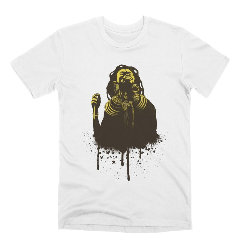 African Queen Men's Premium T-Shirt by Satta van Daal