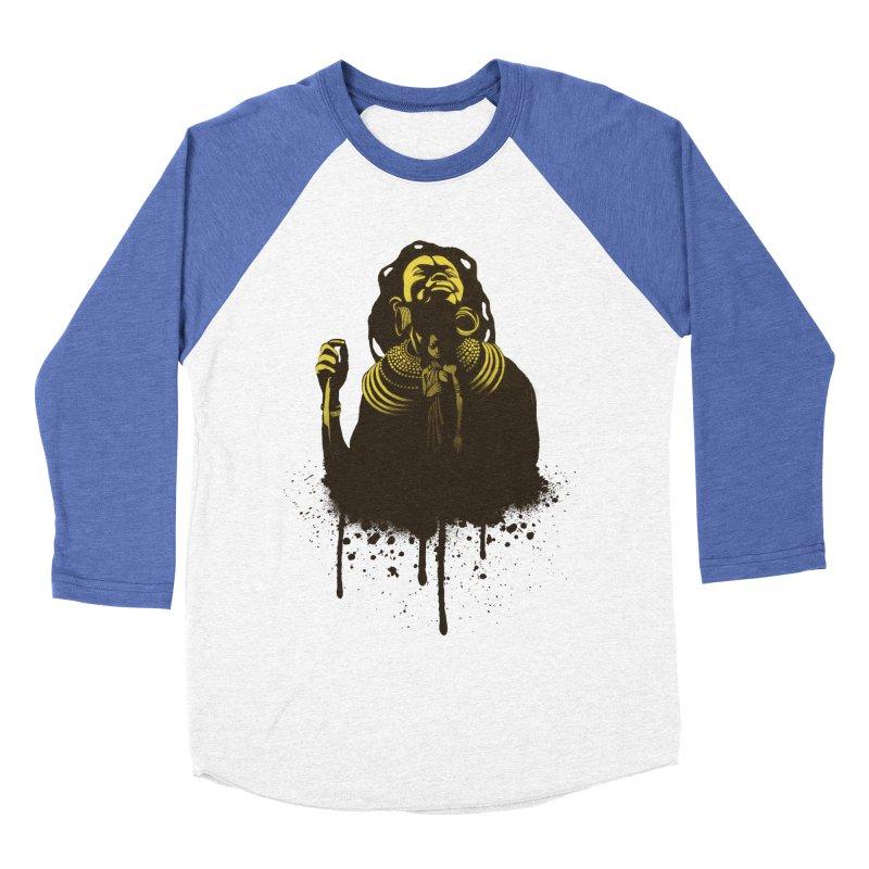 African Queen Women's Baseball Triblend Longsleeve T-Shirt by Satta van Daal