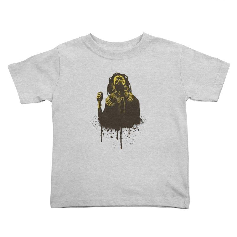 African Queen Kids Toddler T-Shirt by Satta van Daal