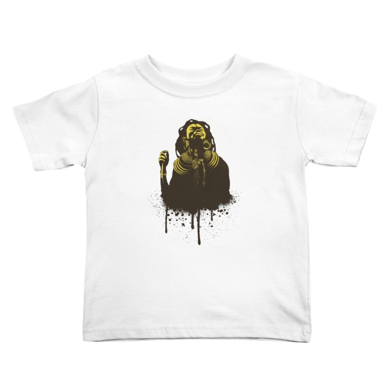 African Queen Kids Toddler T-Shirt by Satta van Daal