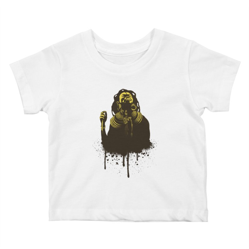 African Queen Kids Baby T-Shirt by Satta van Daal