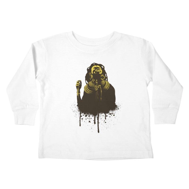 African Queen Kids Toddler Longsleeve T-Shirt by Satta van Daal
