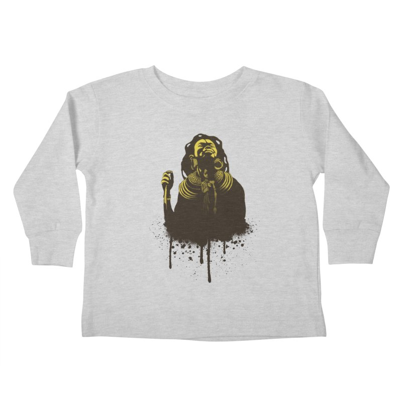 African Queen Kids Toddler Longsleeve T-Shirt by Satta van Daal
