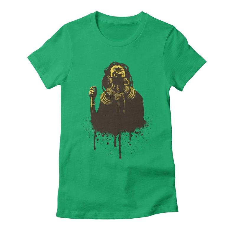 African Queen Women's Fitted T-Shirt by Satta van Daal