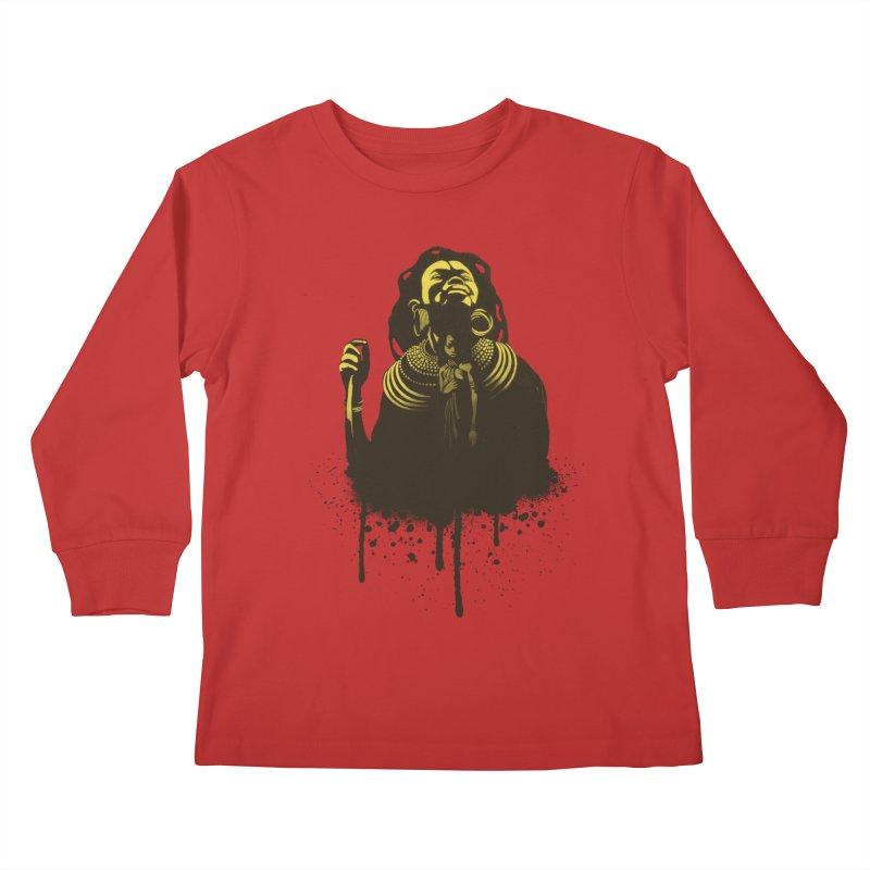 African Queen Kids Longsleeve T-Shirt by Satta van Daal
