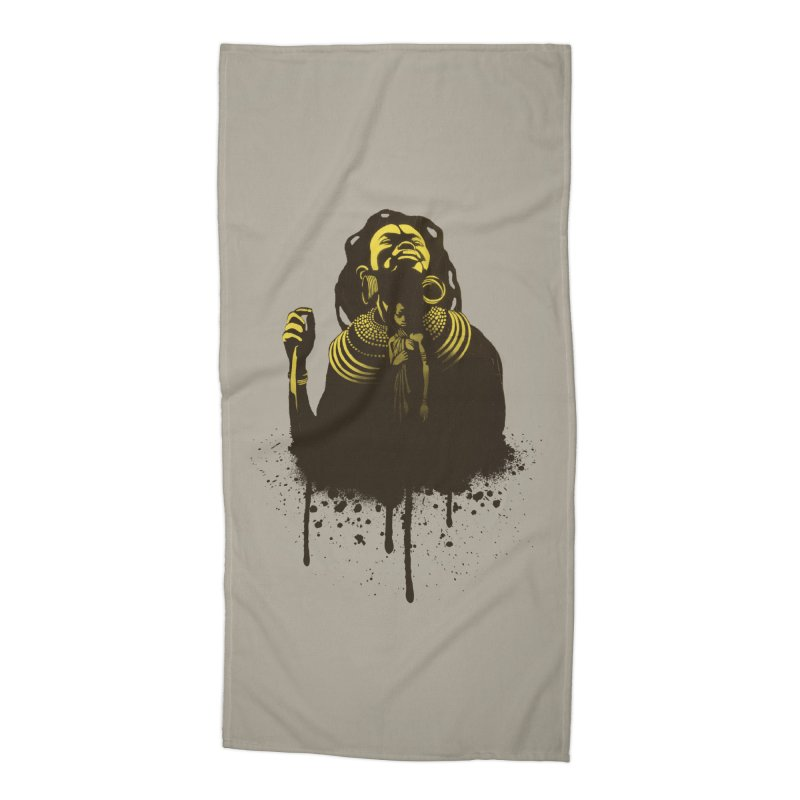 African Queen Accessories Beach Towel by Satta van Daal