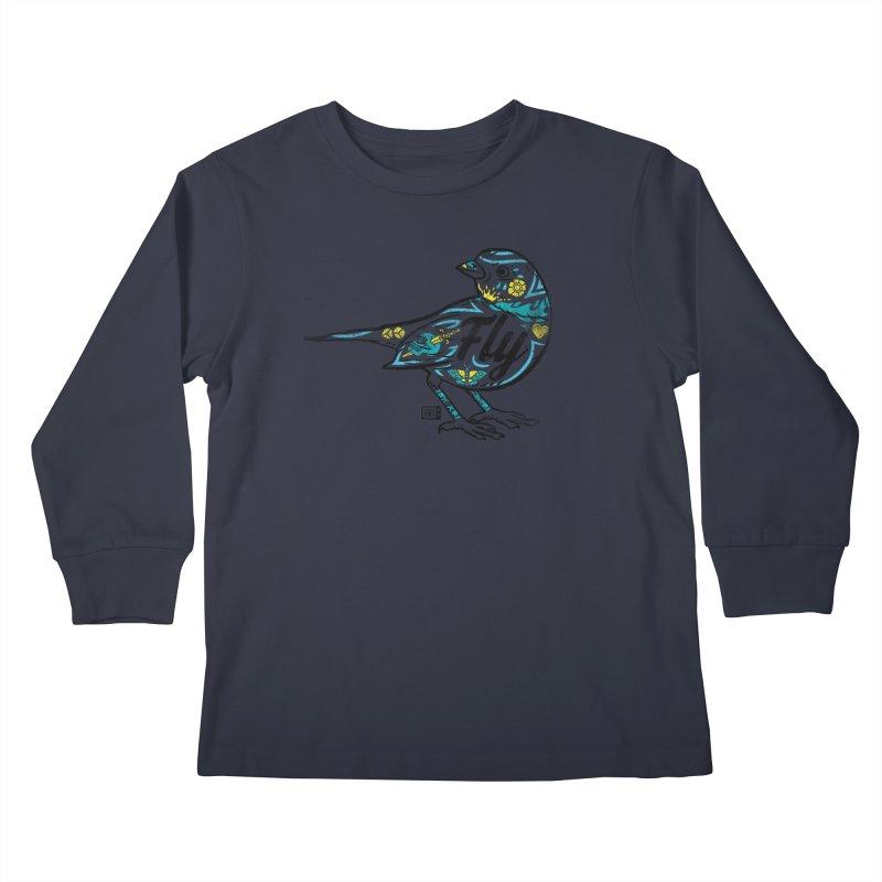 Fly Guy Kids Longsleeve T-Shirt by Saturday Morning Society