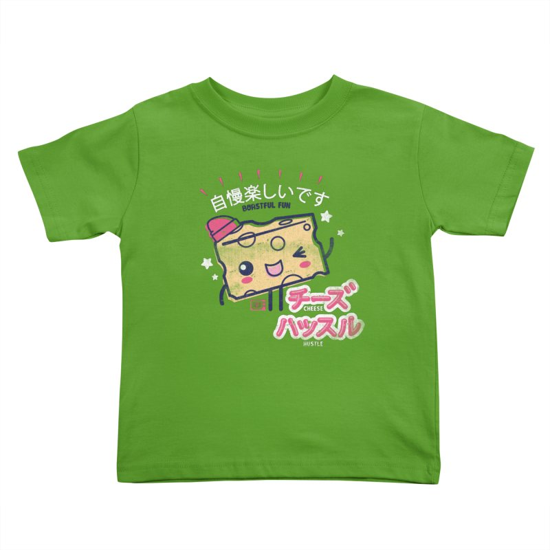 Cheesy Hustle Kids Toddler T-Shirt by Saturday Morning Society