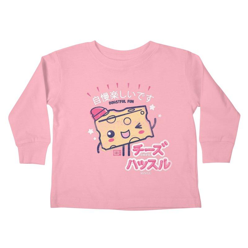 Cheesy Hustle Kids Toddler Longsleeve T-Shirt by Saturday Morning Society