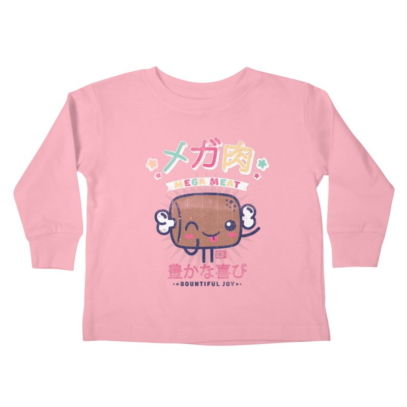 Mega Meat Kids Toddler Longsleeve T-Shirt by Saturday Morning Society