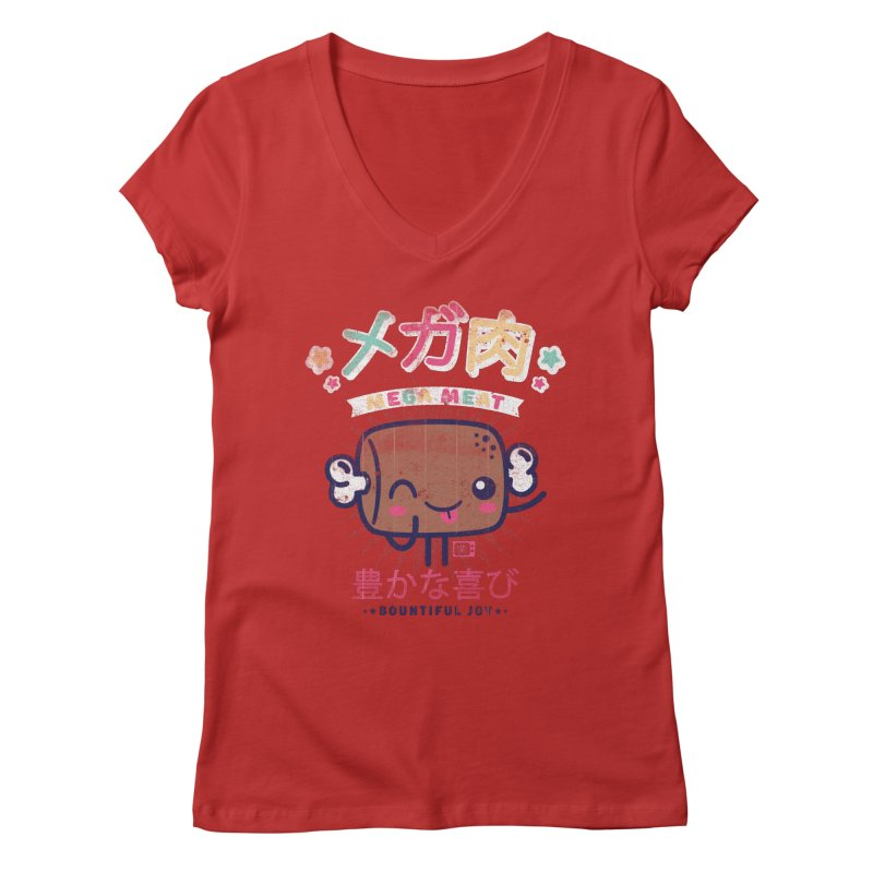 Mega Meat Women's V-Neck by Saturday Morning Society